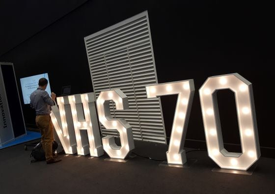NHS70 lights at Confed18